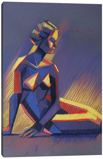 Cubistic Nude IV Canvas Art Print