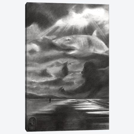 A Day At The Beach Canvas Print #CAK91} by Corné Akkers Canvas Wall Art
