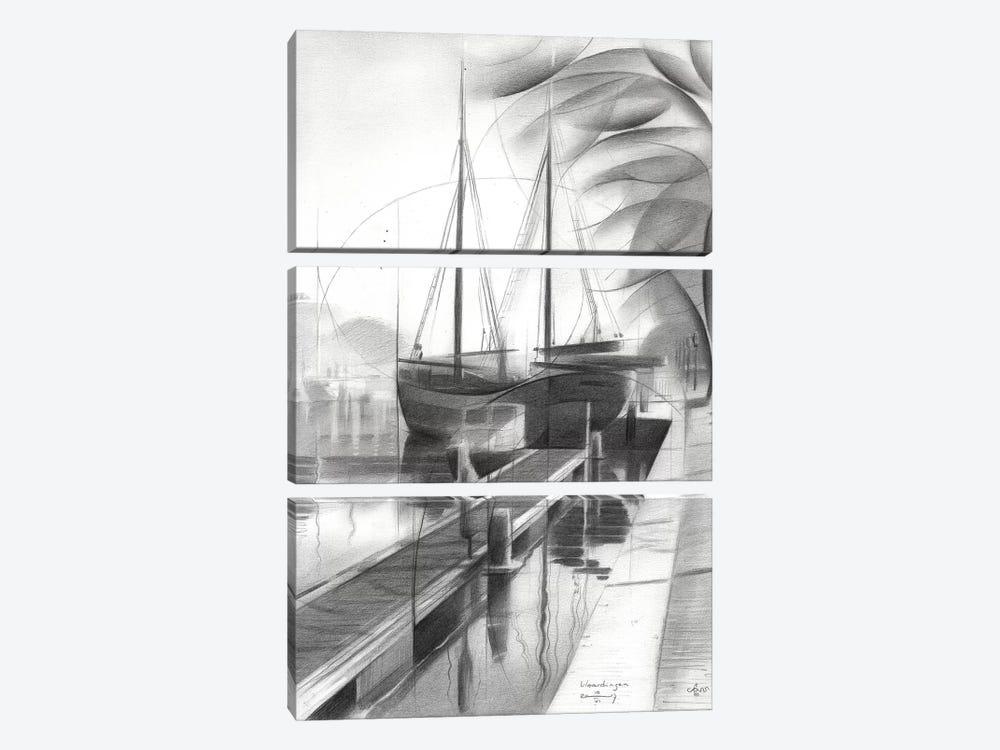 Vlaardingen by Corné Akkers 3-piece Canvas Art Print