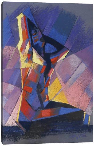 Cubistic Nude VI Canvas Art Print
