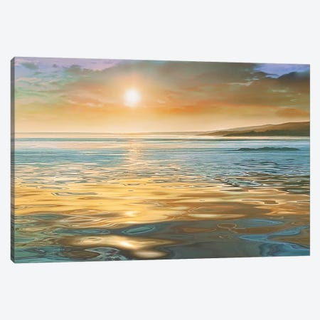 Evening Calm Canvas Print #CAL14} by Mike Calascibetta Canvas Art