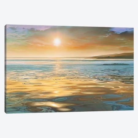 Evening Calm Canvas Print #CAL14} by Mike Calascibetta Canvas Art