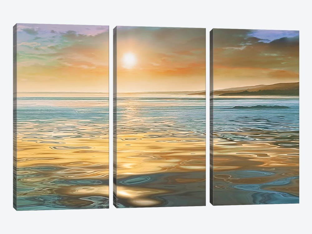 Evening Calm by Mike Calascibetta 3-piece Canvas Artwork