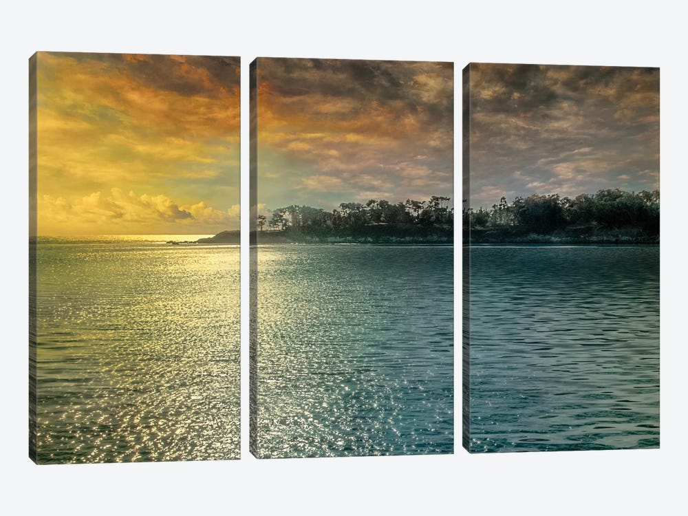 Mystic Island by Mike Calascibetta 3-piece Canvas Art Print
