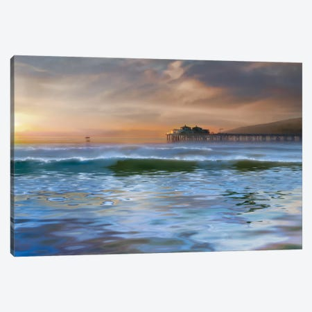 The Pier Canvas Print #CAL18} by Mike Calascibetta Art Print