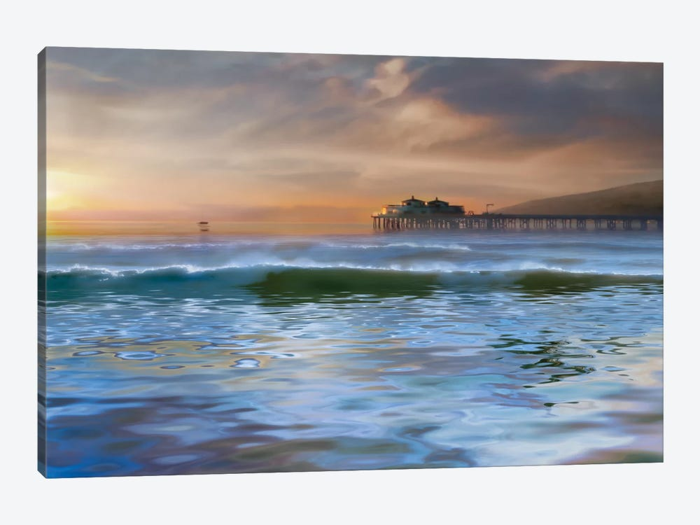 The Pier by Mike Calascibetta 1-piece Canvas Wall Art