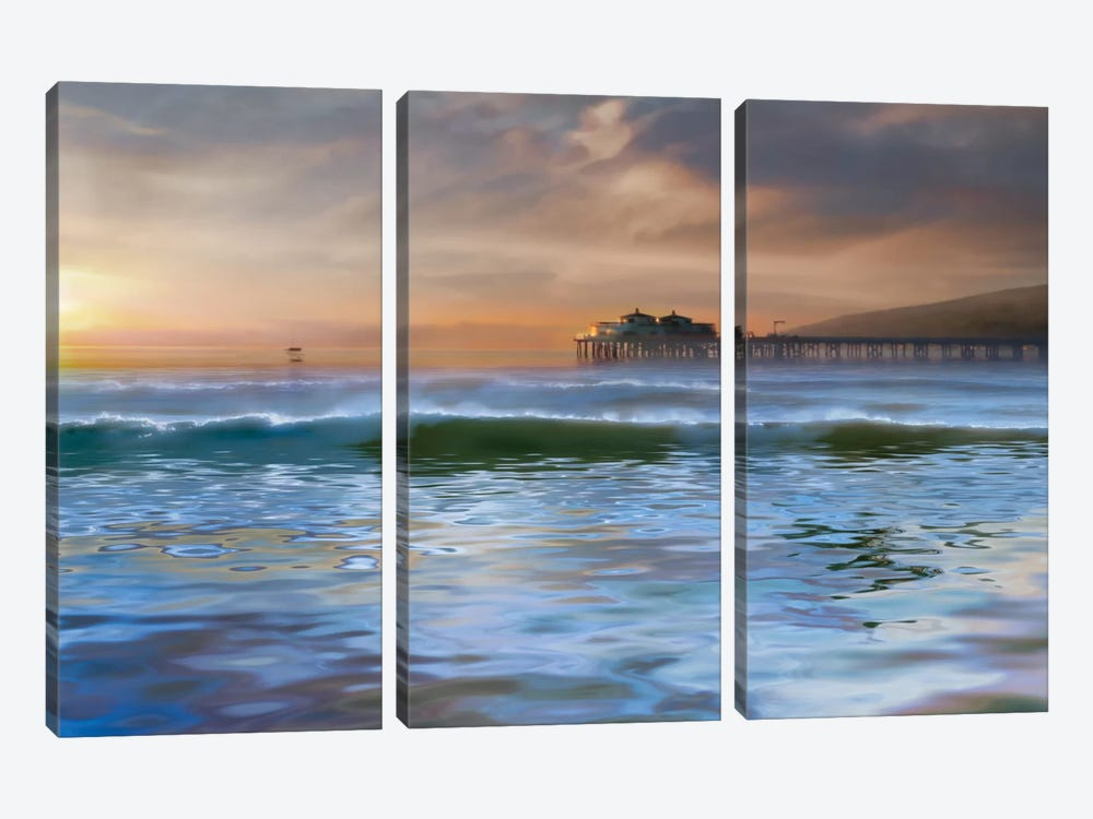The Pier by Mike Calascibetta 3-piece Canvas Art