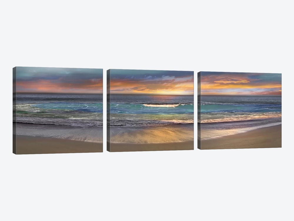 Malibu Alone by Mike Calascibetta 3-piece Canvas Print