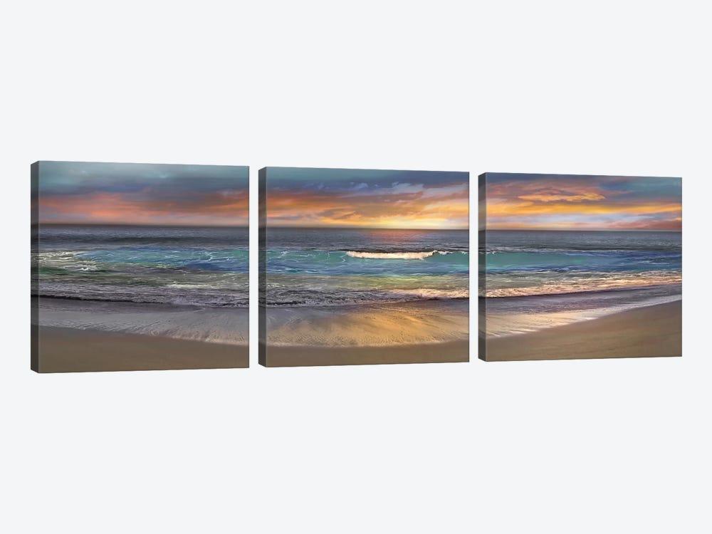 Malibu Alone by Mike Calascibetta 3-piece Canvas Print