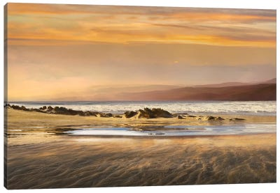 Dusk Tidal Pool Canvas Art Print