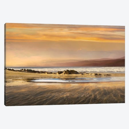 Dusk Tidal Pool Canvas Print #CAL21} by Mike Calascibetta Canvas Art