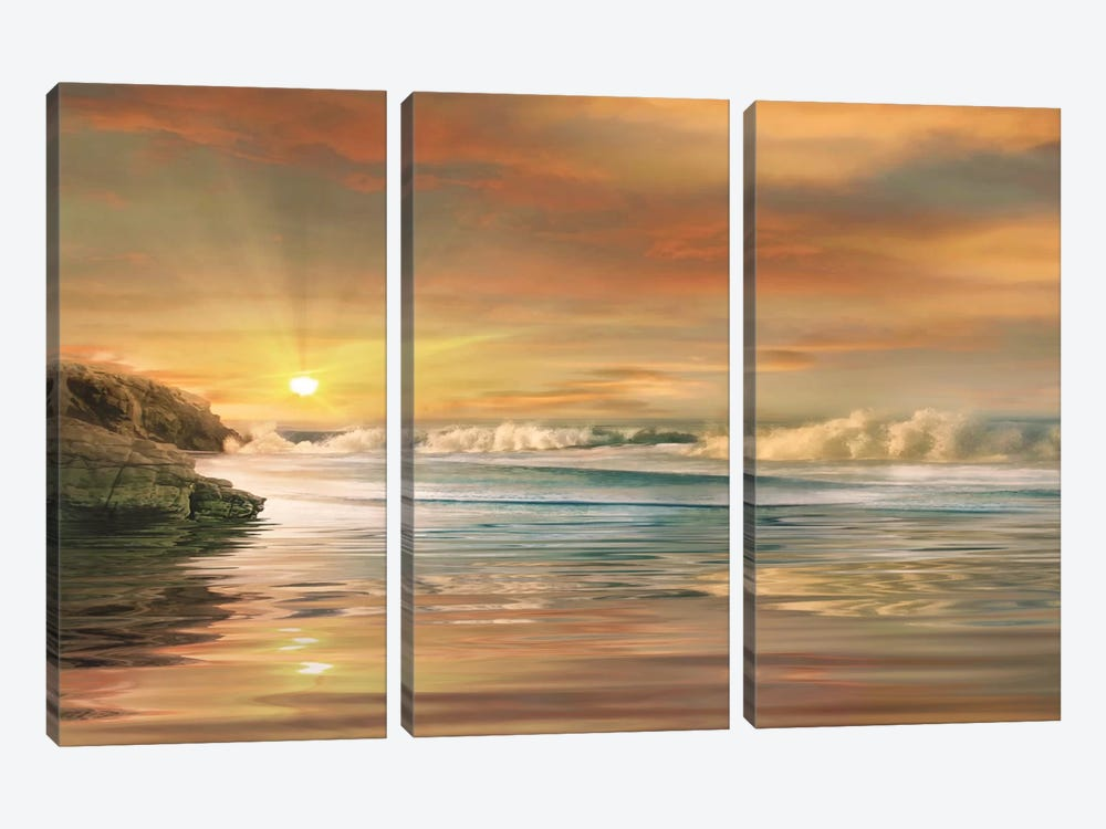 Sundown by Mike Calascibetta 3-piece Art Print