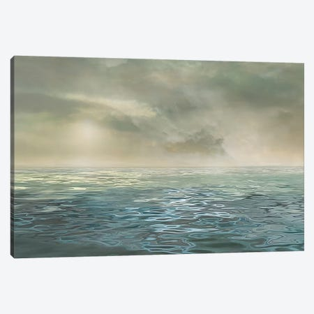 Foggy Morning Canvas Print #CAL29} by Mike Calascibetta Canvas Artwork