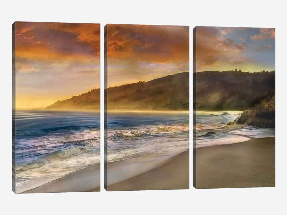 Malibu Sun by Mike Calascibetta 3-piece Canvas Wall Art