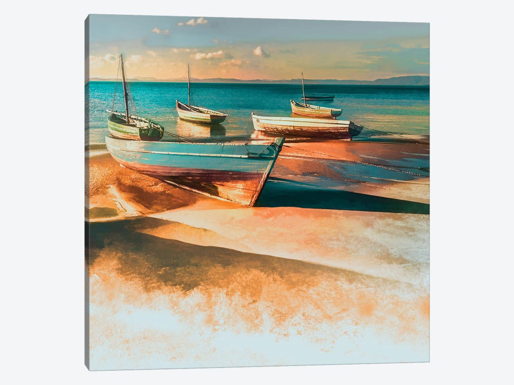 Shadow Boat I by Mike Calascibetta 1-piece Canvas Artwork