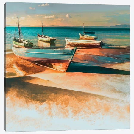 Shadow Boat I 3-Piece Canvas #CAL34} by Mike Calascibetta Canvas Art