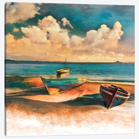Shadow Boat II 3-Piece Canvas #CAL35} by Mike Calascibetta Canvas Art