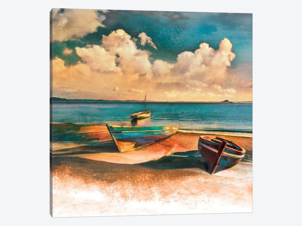 Shadow Boat II by Mike Calascibetta 1-piece Canvas Art Print