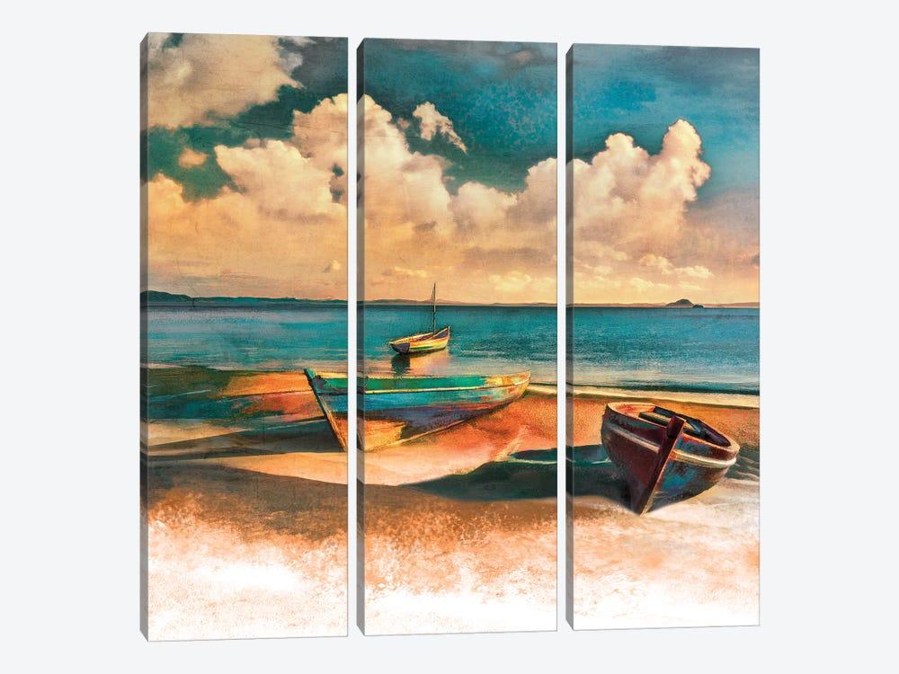 Shadow Boat II by Mike Calascibetta 3-piece Canvas Art Print
