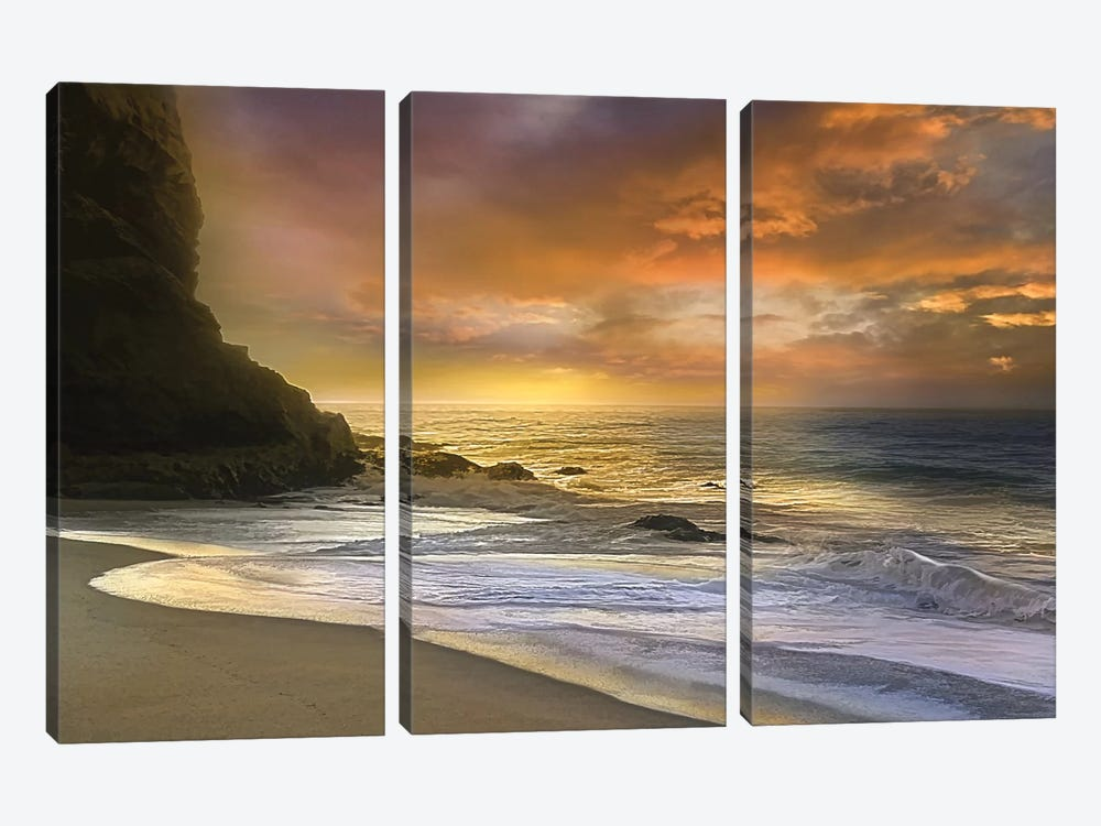 Morning Fire by Mike Calascibetta 3-piece Canvas Art Print