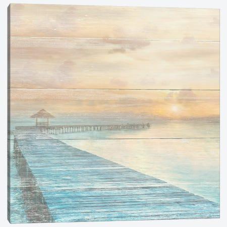 Gather at the Beach 3-Piece Canvas #CAL47} by Mike Calascibetta Canvas Art Print