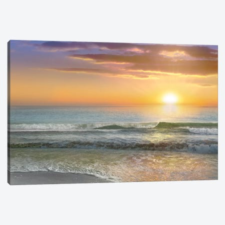 Dawn Rays Canvas Print #CAL59} by Mike Calascibetta Canvas Print