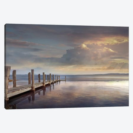 Evening Reflection Canvas Print #CAL68} by Mike Calascibetta Canvas Wall Art