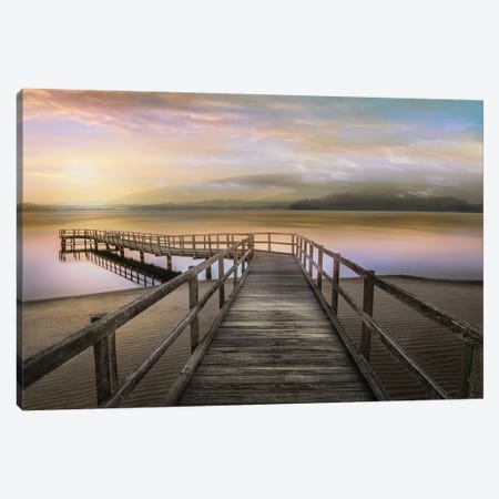 Morning on the Lake Canvas Print #CAL69} by Mike Calascibetta Canvas Artwork