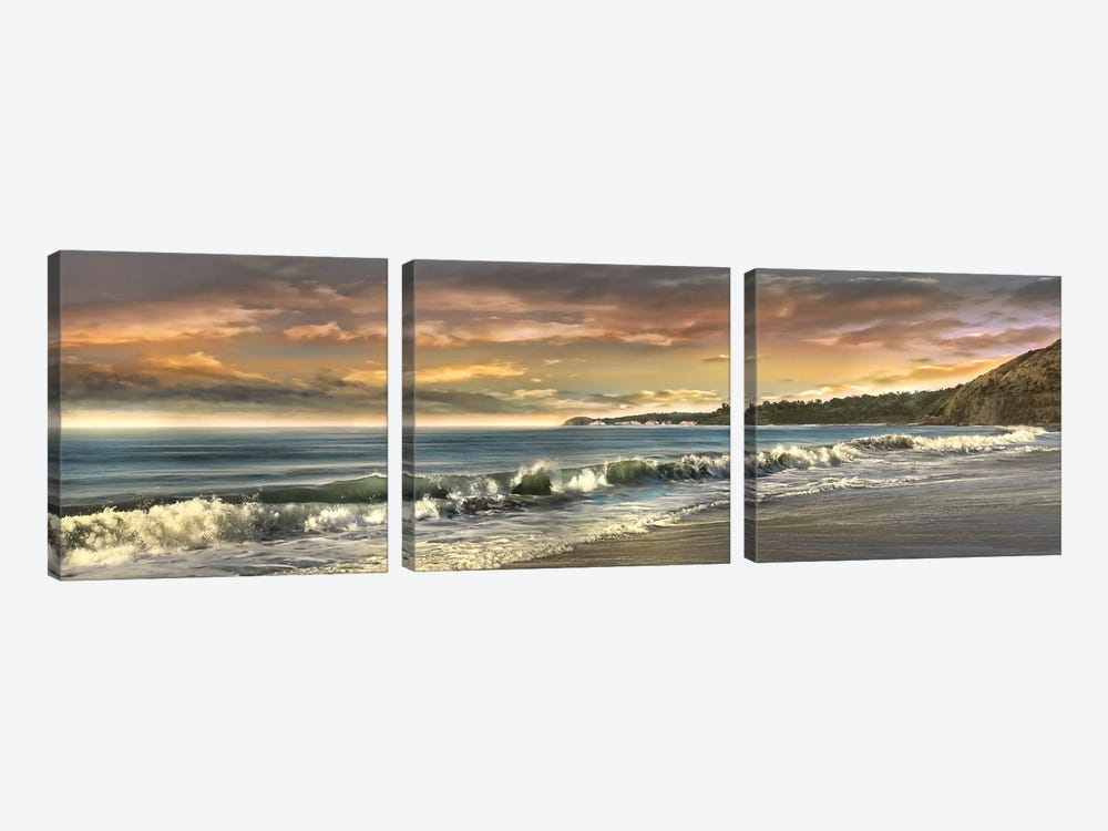 Warm Sunset by Mike Calascibetta 3-piece Canvas Art