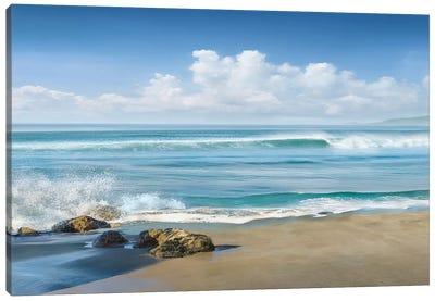 Sweeping Blue Canvas Art Print