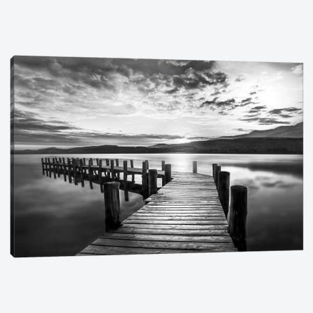 Evening Dock Canvas Print #CAL78} by Mike Calascibetta Canvas Print