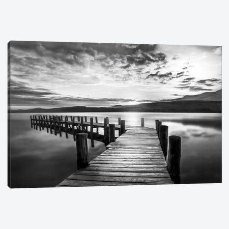 Evening Dock 3-Piece Canvas #CAL78} by Mike Calascibetta Canvas Print