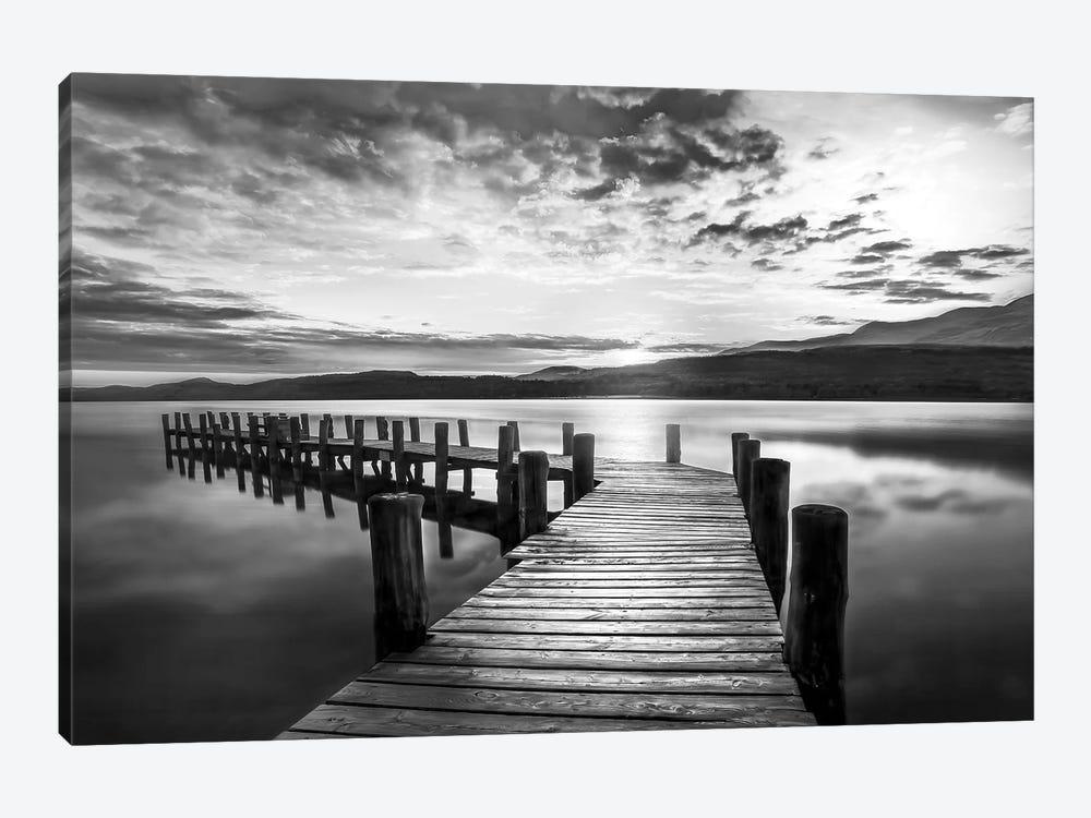 Evening Dock by Mike Calascibetta 1-piece Canvas Art
