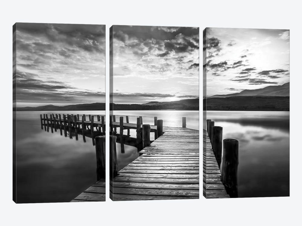 Evening Dock by Mike Calascibetta 3-piece Canvas Art