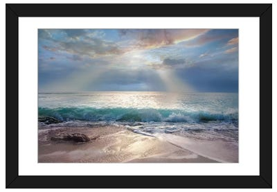 Aqua Blue Morning Framed Art Print