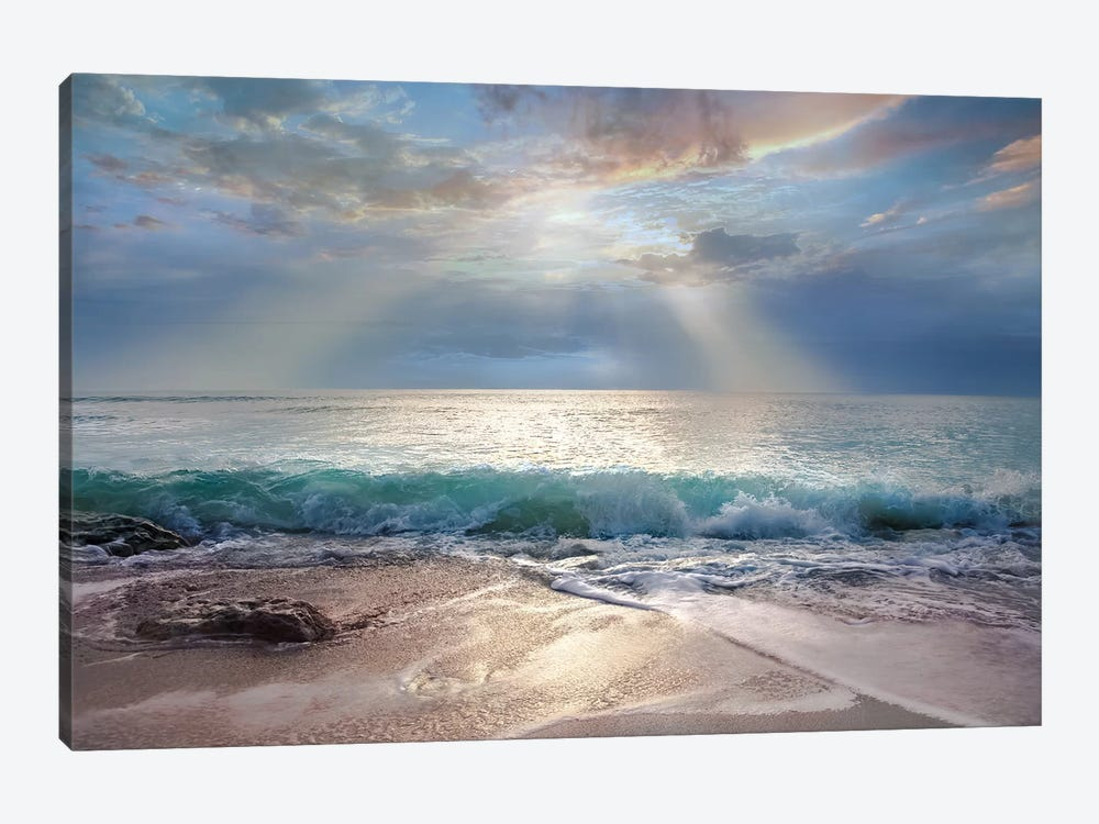 Aqua Blue Morning by Mike Calascibetta 1-piece Art Print