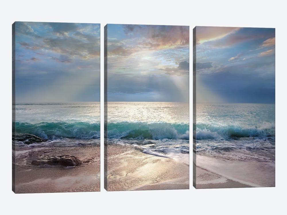 Aqua Blue Morning by Mike Calascibetta 3-piece Art Print