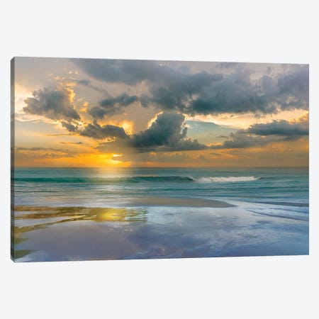 Tides and Sunsets Canvas Print #CAL94} by Mike Calascibetta Canvas Wall Art