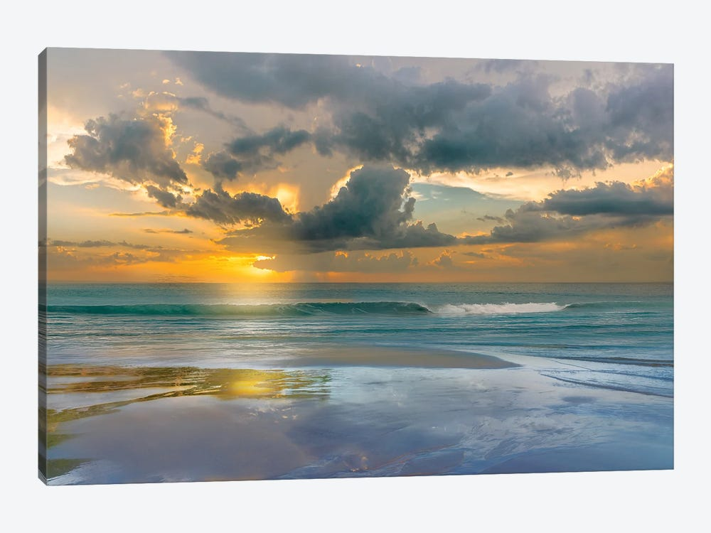 Tides and Sunsets by Mike Calascibetta 1-piece Canvas Wall Art