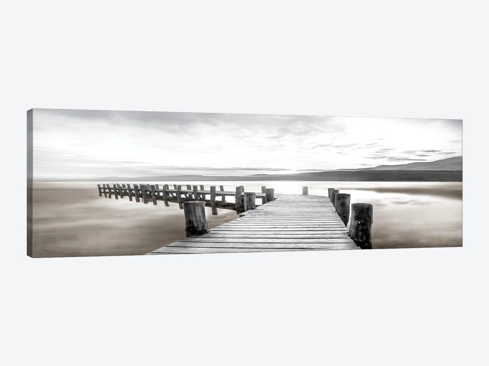 Misty Morning Dock by Mike Calascibetta 1-piece Canvas Wall Art