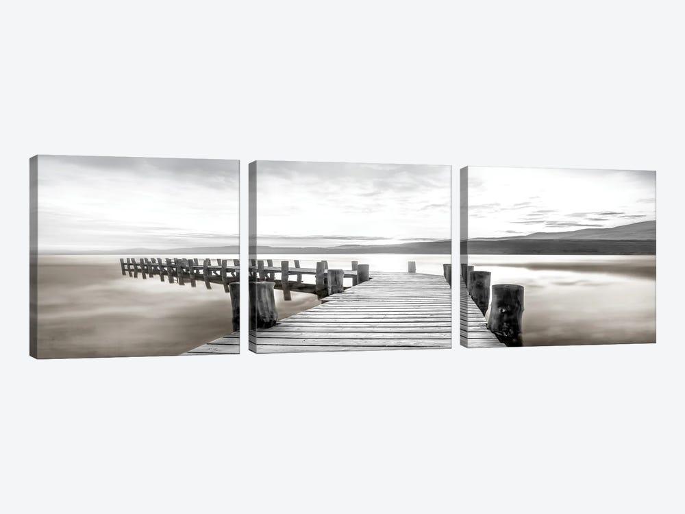 Misty Morning Dock by Mike Calascibetta 3-piece Canvas Art