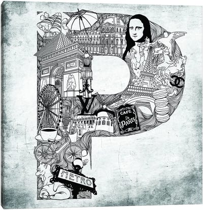 Paris Canvas Print #CALP16