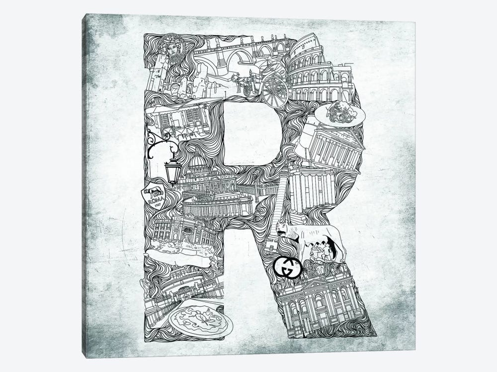 Rome by 5by5collective 1-piece Canvas Art