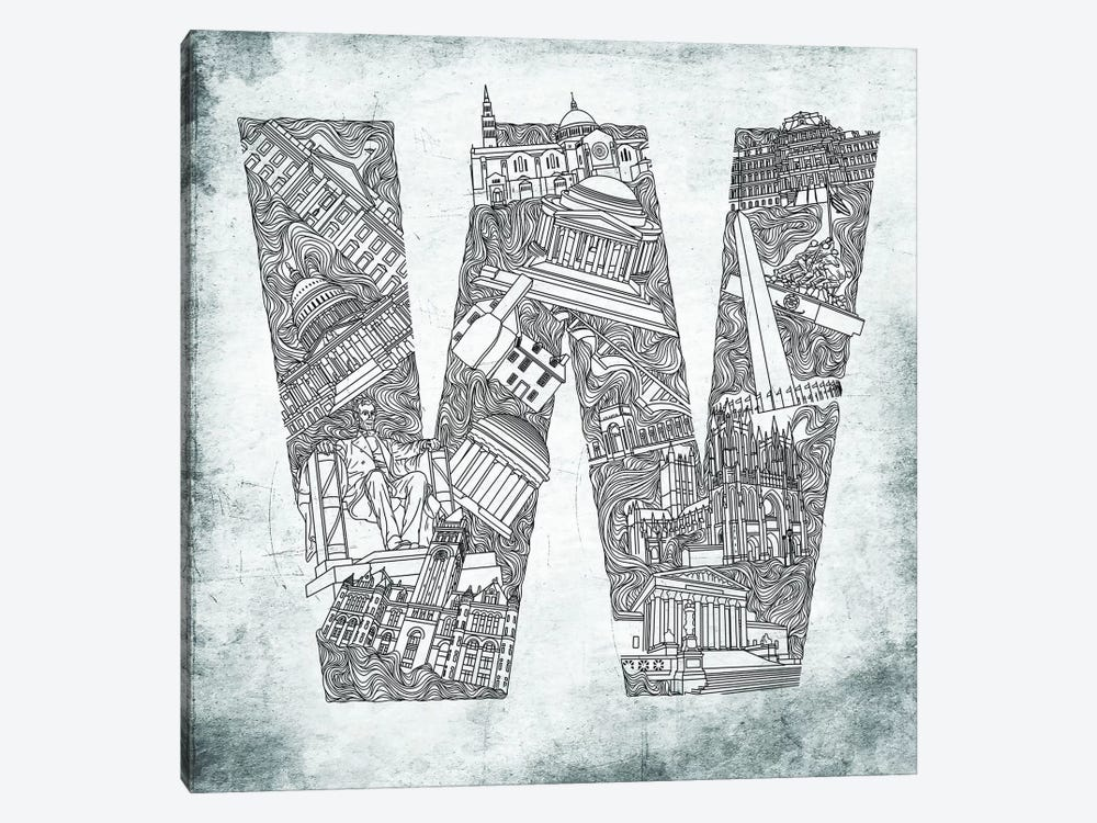 Washington D.C. by 5by5collective 1-piece Canvas Art