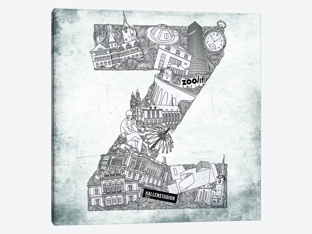 Zurich by 5by5collective 1-piece Art Print