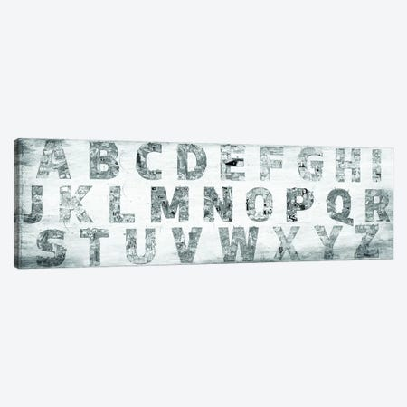 City Alphabet Panoramic Canvas Print #CALP27} by 5by5collective Canvas Wall Art