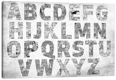 City Alphabet Canvas Art Print