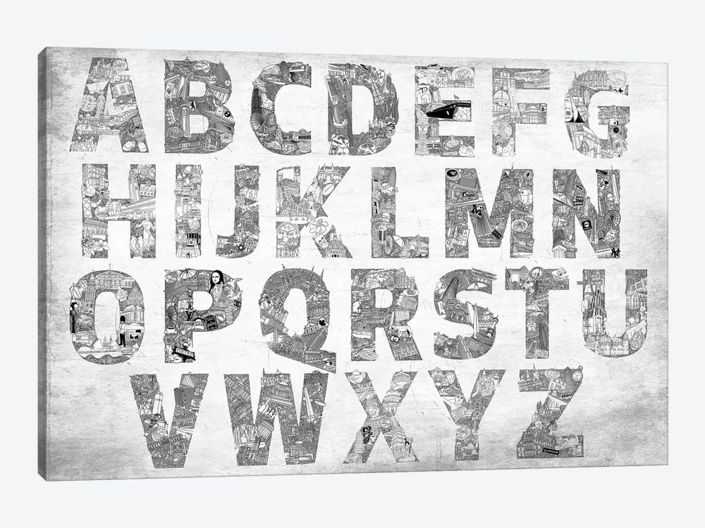 City Alphabet by 5by5collective 1-piece Art Print