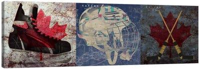 Hockey Ice Skates, Mask, Sticks Canvas Art Print