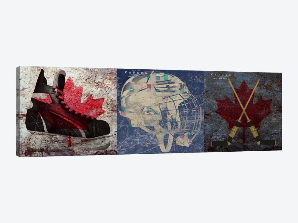 Hockey Ice Skates, Mask, Sticks by Unknown Artist 1-piece Canvas Print